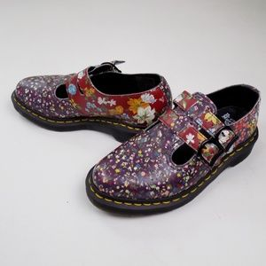 RARE dr Martens Ari wair floral flowers Mary janes